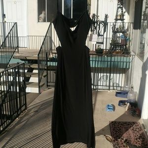 Classy black evening gown